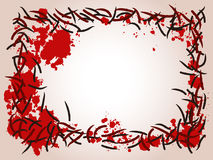 Leech and blood frame Stock Images