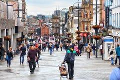 Leeds - Briggate stock afbeeldingen