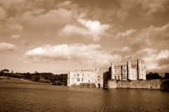 Leeds castle. In kent, England , sepia toned Stock Images