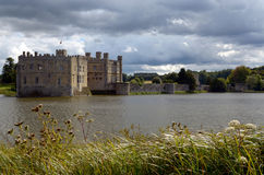 Leeds castle. Is set on two islands on the River Len in the heart of Kent in England Royalty Free Stock Image