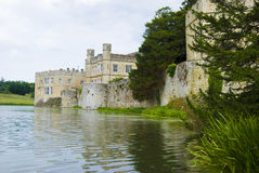 Leeds Castle. In Maidstone, England, as viewed from the moat Stock Photos