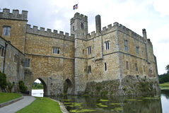 Leeds Castle. In Maidstone, England, as viewed from beneath the walls Royalty Free Stock Image