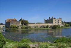 Leeds Castle em Maidstone, Kent, Inglaterra, Europa Imagem de Stock
