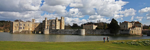 Leeds Castle in England Lizenzfreie Stockfotos