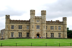 Leeds Castle in England. Historic Leeds castle in England stock photo