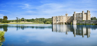 Leeds Castle in England. One of the most famous castles in Britain. It was founded in 11-12 centuries Royalty Free Stock Image