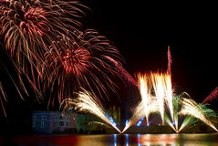 Leeds Castle Fireworks Royalty Free Stock Photography