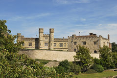Leeds Castle, Kent, England. A beautiful view of leeds castle in England Royalty Free Stock Photography