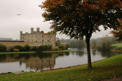 Leeds Castle. Is in Kent, England. It is also called The loveliest castle in the world Royalty Free Stock Photos