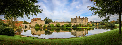 Leeds Castle, Kent, England. Panoramic photo Royalty Free Stock Photo