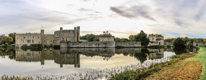 Leeds Castle, Kent, England. Panoramic photo Royalty Free Stock Photography