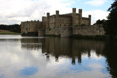 Leeds Castle in Kent. With Moat around Royalty Free Stock Images
