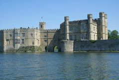 Leeds Castle in Maidstone, Kent, England, Europe Stock Photos