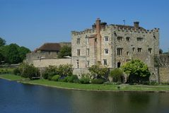 Leeds Castle in Maidstone, Kent, England, Europe Stock Image