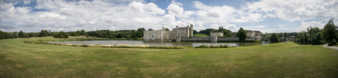 Leeds Castle Panorama Royalty Free Stock Image