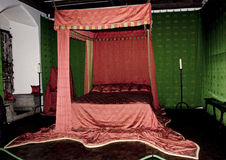 Leeds Castle The Queens Bedroom. The Queens Bedroom at Leeds Castle in Kent England Royalty Free Stock Photo