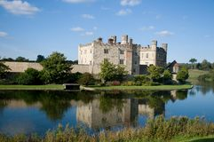 Leeds castle reflections Royalty Free Stock Image