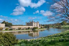 Leeds Castle Reino Unido fotos de stock royalty free
