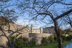Leeds Castle. On river Len, United kingdom Stock Images