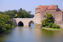 Leeds Castle's moat Stock Photography
