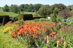 Leeds Castle trädgård i England Royaltyfri Fotografi