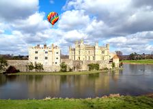 The leeds castle under sunny sky Royalty Free Stock Photography