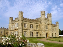 Leeds Castle view. Sunny day at Leeds Castle in Kent, England Royalty Free Stock Photography