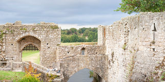 Leeds castle walls Royalty Free Stock Photography