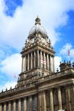 Leeds City Hall. Architecture in West Yorkshire, UK stock photography