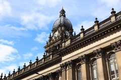 Leeds City Hall. Leeds - city in West Yorkshire, UK. City Hall building stock images