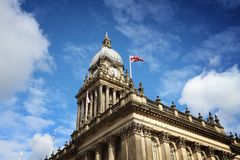 Leeds City Hall. Leeds - city in West Yorkshire, UK. City Hall building stock photo