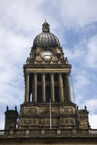 Leeds City Hall, Yorkshire. Leeds City Town Hall, showing the clock face royalty free stock images