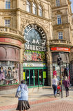 Leeds City Market Entrance Stock Photo