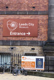 Leeds City Museum. Sign on the outside of the royalty free stock image