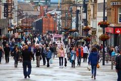 Leeds city shopping Royalty Free Stock Photos