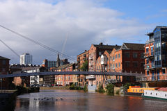 Leeds Cityscape arkivfoto