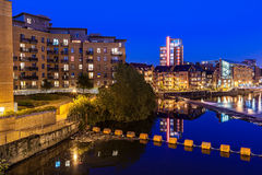 Leeds clarence dock. Clarence dock is the newly developed in Leeds city centre, England Stock Photos