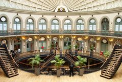 Leeds Corn Exchange part 1. See image ref 14533615 for the opposite viewpoint. The Leeds Corn Exchange is a Grade 1 listed Victorian building in Leeds, West royalty free stock images