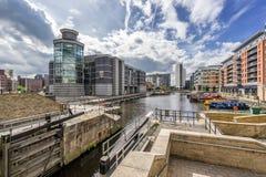 Leeds-Dock in der Stadt von Leeds lizenzfreie stockfotos
