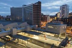 Leeds en la noche Imágenes de archivo libres de regalías