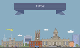 Leeds, England. Leeds, city in West Yorkshire, England royalty free illustration