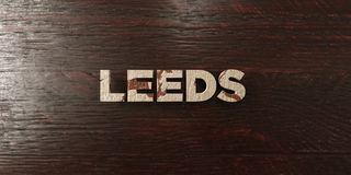 Leeds - grungy wooden headline on Maple  - 3D rendered royalty free stock image Stock Image