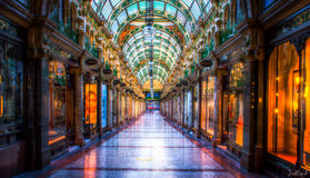 Leeds HDR shopping alley. HDR image of Leeds shopping area. 2016 Stock Photos
