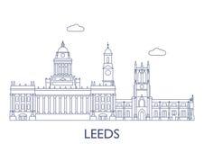 Leeds, le costruzioni più famose della città Fotografia Stock