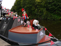 The Leeds Liverpool Canal Festival at Burnley Lancashire Royalty Free Stock Photo