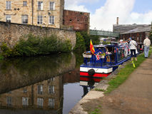 The Leeds Liverpool Canal Festival at Burnley Lancashire Royalty Free Stock Image