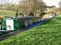 Leeds Liverpool Canal at Salterforth in the beautiful countryside on the Lancashire Yorkshire border in Northern England. Salterforth is a village within the Stock Image