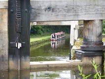 Leeds & Liverpool kanal i England Fotografering för Bildbyråer