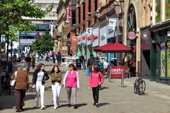 Leeds - lugar de Albion Imagenes de archivo