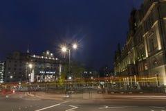 Leeds miasta kwadrat przy nocą Fotografia Royalty Free